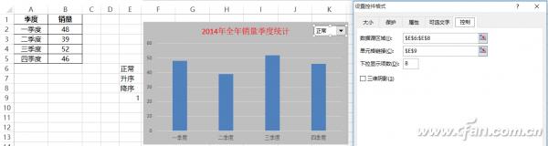 Excel图表如何添加下拉菜单排序