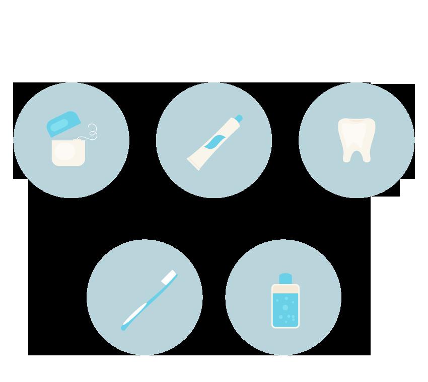 用AI如何设计一套爱护牙齿的图标?