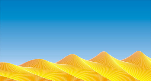 很酷炫!CDR交互式工具制作简易沙漠效果