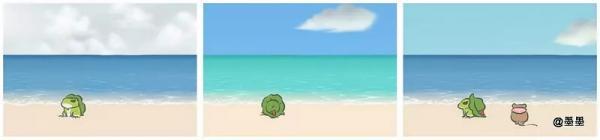 旅行青蛙大海明信片有哪些?面朝大海,春暖花开